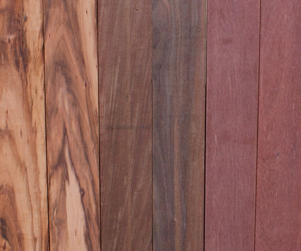 Hardwood decking - IPE, TigerWood, natural wood